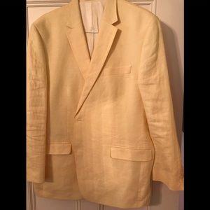 Ralph Lauren yellow linen men's blazer.